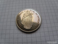 100 forint 1991. II. János Pál Pápa Mo.-on. ötvözet. (12)