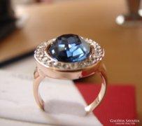 Gyönyörű aranyozott  kőves gyűrű 57 cm