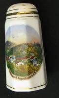 Jugenheimi porcelán emlék fűszertartó/sószóro