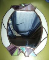 Fehér ólomüveg tükör