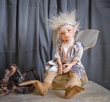 Tündér figura Vincent porcelán baba porcelánbaba fiú figura