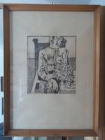 Kvalitásos rézkarc, híres festő műve