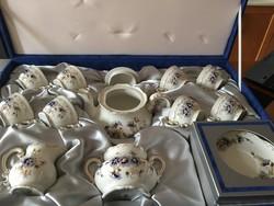 Zsolnay 8 személyes teáskészlet