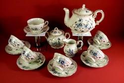 Zsolnay teáskészlet búzavirágos (új)