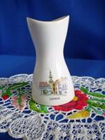 Aquincumi porcelán váza Sopron 9 cm