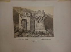 Visegrád Bejárás a' magas várban. Litográfia 1847