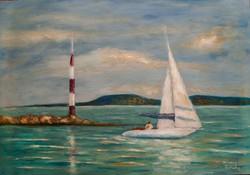 Balatoni kikötő Festmény