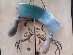Antik kétnyelű daraboló kés jelzett