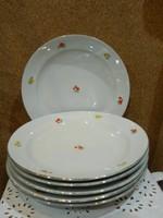 Zsolnay 6 személyes lapos tányér.