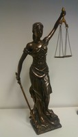Justitia szobor 47cm