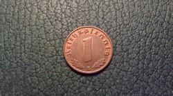Nagyon szép 1 pfennig 1939 E!!