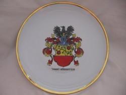 Nagy címeres PMR emlék tányér, dísz tál