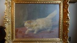 Macska - Heyer Arthur (German, 18721931) festménye