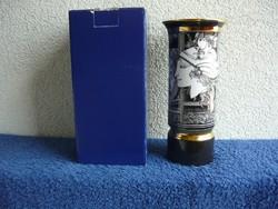 Szász Endre 20 cm pillangós vázája eredeti dobozában eladó