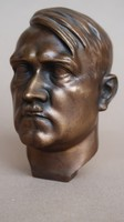 Hitler bronz portré.