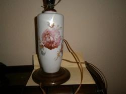 Antik  porcelán lámpatest fa talppal