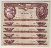 1989. 100 forint 5x S.K. UNC