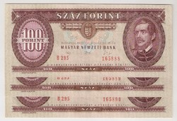 1992. 100 forint 3x S.K. UNC