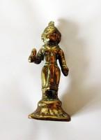 Indiai istenséget ábrázoló réz figura szobor