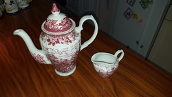 Angol porcelán teáskanna + tejkiöntő