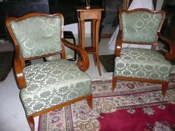 2 db gyönyörű antik cseresznye fotel ajándék posztamenssel