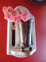 Antik ezüstözött váza