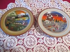 C001 2 db SMF Sshramberg kézzel festett tányér kb. 10 cm