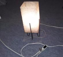 Retró,70-es évek szögletes asztali lámpa!