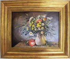 Virág gyümölccsel -Jámbor L olajkép