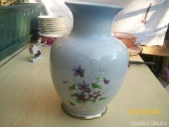 Régi ibolyás hollóházi váza