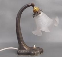   Antik szecessziós ón asztali lámpa 1910 körüli