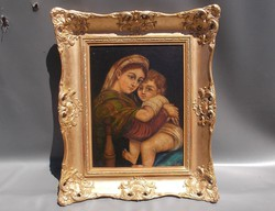 Szentkép olajfestmény olaj festmény