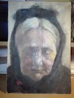 Papp Gábor (Kolozsvár) festőművész alkotása: A Mama álma