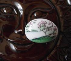 Porcelán bross,kitűző