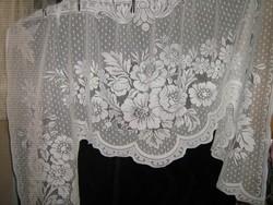 Csodaszép 130x105 hófehér vintage rózsás panoráma függöny