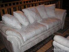 Olasz 2 db  brokát huzatos moder sofa235x90x40cm ,178x90x40,