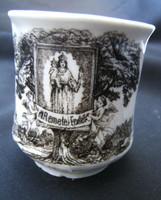 Máriaremetei porcelán emlékpohár