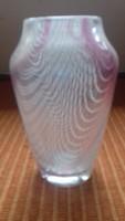 Murano váza, színes üvegszálakkal
