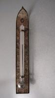 Antik miniatűr hőmérő kitűző, bross, extrém ritka