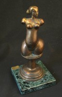 Nő akt- torzó bronzszobor- Mihály Gábor