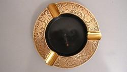 Régi bronz hamutál, hamutartó, asztalközép