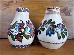 Régi hódmezővásárhelyi kerámia váza párban