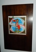 Inicialé Szent István Képes Krónika - tűzzománc jelzett kép