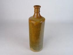 0M892 Régi cserép ásványvizes palack 28 cm