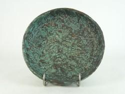 0N001 Iparművészeti retro Faragó kerámia tál