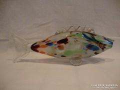 Üveg hal szobor dísztárgy