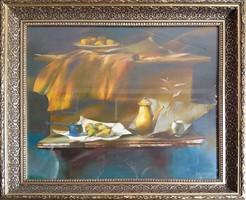 Szabados János: csendélet - keretezett festménye