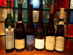 6 Muzeális bor, fehérbor,ritka!1995,1996,1997,1999,2000,2002