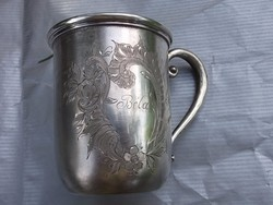 Ezüst füles bögre-keresztelő pohár ?