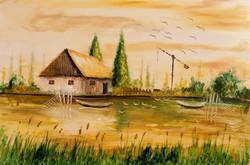 Tanya a parton  Festmény